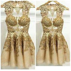 Olha que babado esse #Dress dourado pra aquele evento, você irá arrasar!