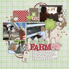 cute farm / animals layout
