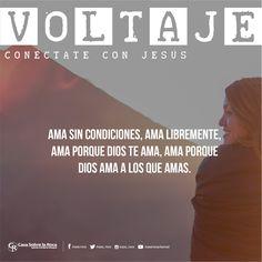 Ama sin condiciones, ama libremente, ama porque Dios te ama, ama porque Dios ama a los que amas. #ConéctateConJesús http://devocional.casaroca.org/jv/16jun