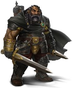 m Dwarf Ranger w 2swords cape Oniric Realms
