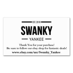Custom cut out punch cards pinterest loyalty cards business swanky yankee business cards for ebay stores by swankeeyankee reheart Gallery