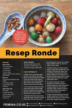Tea Recipes, Dessert Recipes, Cooking Recipes, Indonesian Food Traditional, Kitchenettes, Indonesian Recipes, Tasty, Yummy Food, Asian Desserts