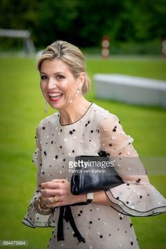 Queen Maxima visits Princess Maxima's Oncology Child Center in Utrecht on May 18, 2017