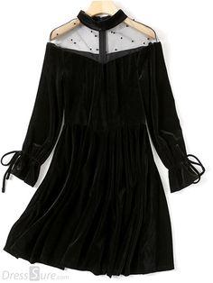 5f7295d8abb Gothic Lolita Dress OP Long Sleeve Black Lolita Dress Criss Cross Chiffon  High Waist Lolita One Piece Dress in 2019