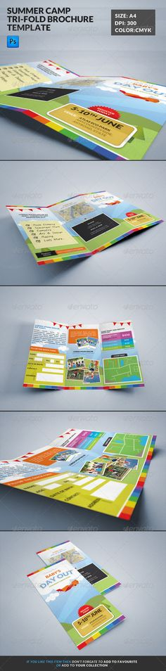 Summer Camp Kids Tri-Fold Brochure - Corporate Brochures