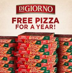 Enter to Win Free Pizza for a Year!