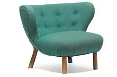 """Viggo Boesen: """"The Little Petra"""". Easy chair with stained beech frame. 1938"""