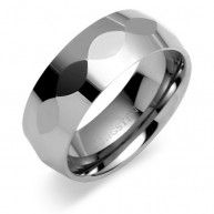 Style: center faceted gun metal finish, Width: 8mm, Ring Size 9 (available in this size only) MSRP: $49.99 Imagine wearing a ring that never needs polishing, a ring that is virtually scratch proof. Tu...