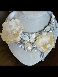 Hand made oak, statement necklace by Serket Jewelry