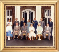 April 8, 1983:  Prince Charles & Princess Diana in an official photograph taken to commemorate their visit to Hands Oval, Bunbury.