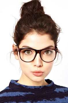 Fashion Editor Style - Clothes Insiders Love #refinery29 So chic! Oversized glasses make you look REALLY smart. :D Cute.