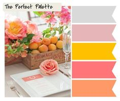 We love these spring inspired color palettes from Perfect Palette Blog! Wedding Menus Idea. B
