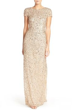 Gold Sequin Mother of the Bride Gown