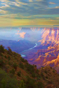 Desert View Grand Canyon - ©Ricky Barnard - http://fineartamerica.com/featured/desert-view-ricky-barnard.html