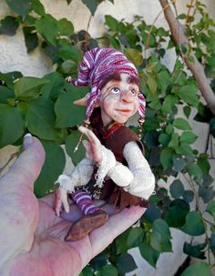 "OOAK Hiddleston Fairy   Gnome ""Basil"""