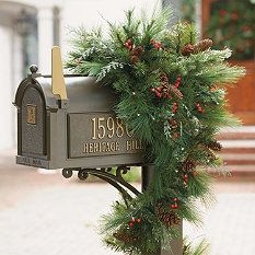 Christmas Mailbox Swags Rustic Swag Winter