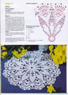 Kira scheme crochet: Scheme crochet no. Crochet Doily Diagram, Crochet Mandala Pattern, Crochet Doily Patterns, Crochet Chart, Thread Crochet, Filet Crochet, Crochet Stitches, Crochet Dollies, Crochet Lace