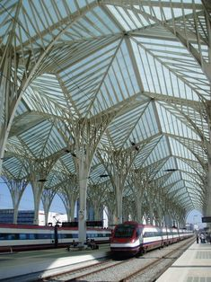 Santiago Calatrava- Oriente Train Station, Lisbon, Portugal