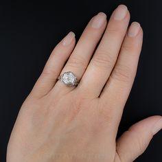 .94 Carat Art Deco Diamond Engagement Ring - 10-1-6766 - Lang Antiques