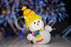 Qdiz Stock Photos | Christmas snowman toy,  #background #blur #blurred #celebration #Christmas #closeup #decoration #doll #eve #figure #firework #fun #funny #greeting #hat #holiday #little #Merry #new #scarf #small #snowman #toy #traditional #white #x-mas #xmas #year #yellow