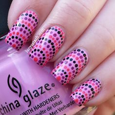 Sugar Nails: Guest Post: Lucy from Lucy's Stash ! Get Nails, Love Nails, Hair And Nails, Pink Nails, Fabulous Nails, Gorgeous Nails, Pretty Nails, Dot Nail Art, Polka Dot Nails
