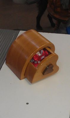Heart Bandsaw Box by The Woodencraftsman Shop pinned with Pinvolve