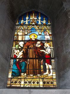 Interior of Saint Severin church, Paris