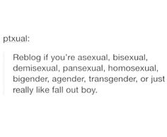 #lgbt #falloutboy You'll never guess which