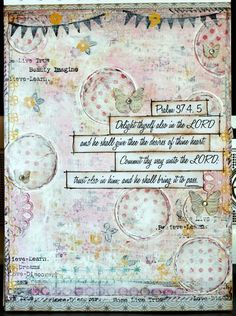 My bible quotes art journal. - Two Peas in a Bucket