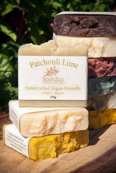 Patchouli Lime Vegan Soap, No Palm Oil, with Coconut Milk (Lightly Scented) $10