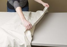 Lay out a drop cloth to protect your surroundings
