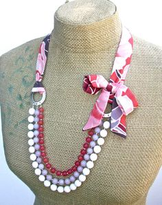 Pomegranate necklace and earring set with by WrappedInClover, $85.00
