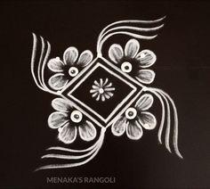 Very Easy Diwali Rangoli Easy Rangoli Designs Videos, Rangoli Side Designs, Simple Rangoli Border Designs, Rangoli Designs Latest, Small Rangoli Design, Rangoli Designs Diwali, Rangoli Designs With Dots, Mehndi Art Designs, Beautiful Rangoli Designs