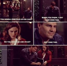 Bones {ugh this parttttt! Booth And Bones, Booth And Brennan, Bones Tv Series, Bones Tv Show, Bones Quotes, Bbc, David Boreanaz, Dont Call Me, How I Met Your Mother