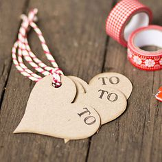 pretty DIY tags from notonthehighstreet