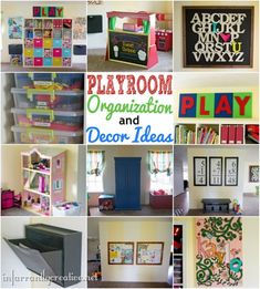 Playroom reveal chock full of organization and decorating ideas