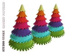 Christmas decoration tree, rainbow ornament crochet amigurumi PATTERN pdf