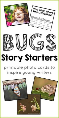 Inspire Me Story Starter Printable Photo Cards ~ Bugs