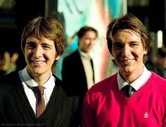 :)Oliver and James Phelps aka Fred and George Weasley