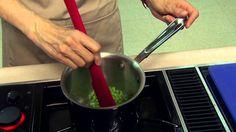 Barbara Brown, Extension Food Specialist, prepares a spicy honeydew melon soup.