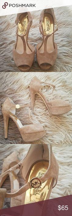 MICHAEL KORS HEELS Slightly worn authentic MICHAEL KORS tan heels.  These are a beautiful pair of heels. Michael Kors Shoes Heels