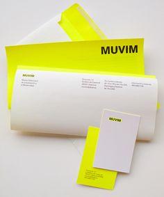 MUVIM Branding Redesign by Blanca Egea, via Behance. I like neon colors
