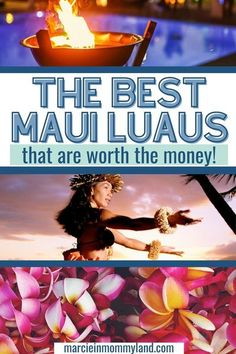 Are you planning a Maui vacation and wondering what the best things to do on Maui are? One must do in Maui is experiencing an authentic Maui luau! Whether you are on a Maui honeymoon, babymoon, or family trip to Maui, you'll definitely want to book a Hawaiian luau. But, they can get expensive. So, I've compared the best luaus in Maui so you can pick the one perfect for your vacation to Maui! Plus, I'll show you how to save money in Maui with discount luau tickets! #maui #luau