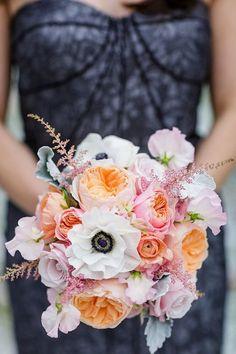 prettiest anemone filled wedding bouquets / http://www.himisspuff.com/spring-summer-wedding-bouquets/4/