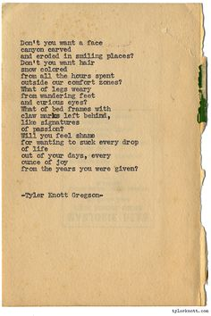 Typewriter Series #1233 by Tyler Knott Gregson*All The Words Are Yours, is available for Pre-Sale through Amazon, Barnes and Noble, IndieBound , Books-A-Million , or iBookstore! *