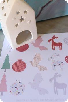 p'tites breloques en papier Free printable Christmas