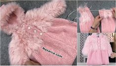 Baby Knitting, Crochet Baby, Knit Fashion, My Baby Girl, Kids And Parenting, Diy And Crafts, Baby Shoes, Fur Coat, Pink