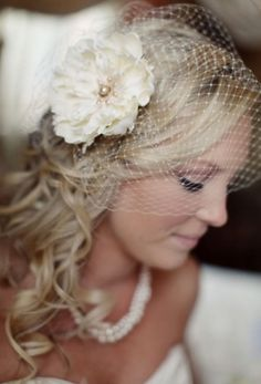 Love the birdcage veil. I want one! Hopefully I pick a dress this will work with!