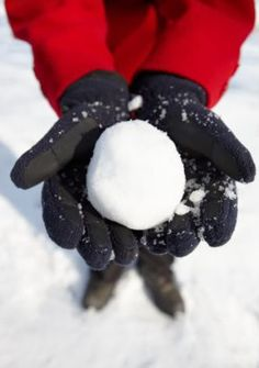 have a snowball fight with a huge group of people