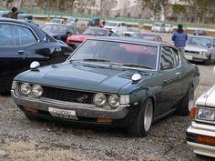 1973 Toyota Celica GT-My first car but,butterscotch with white top.